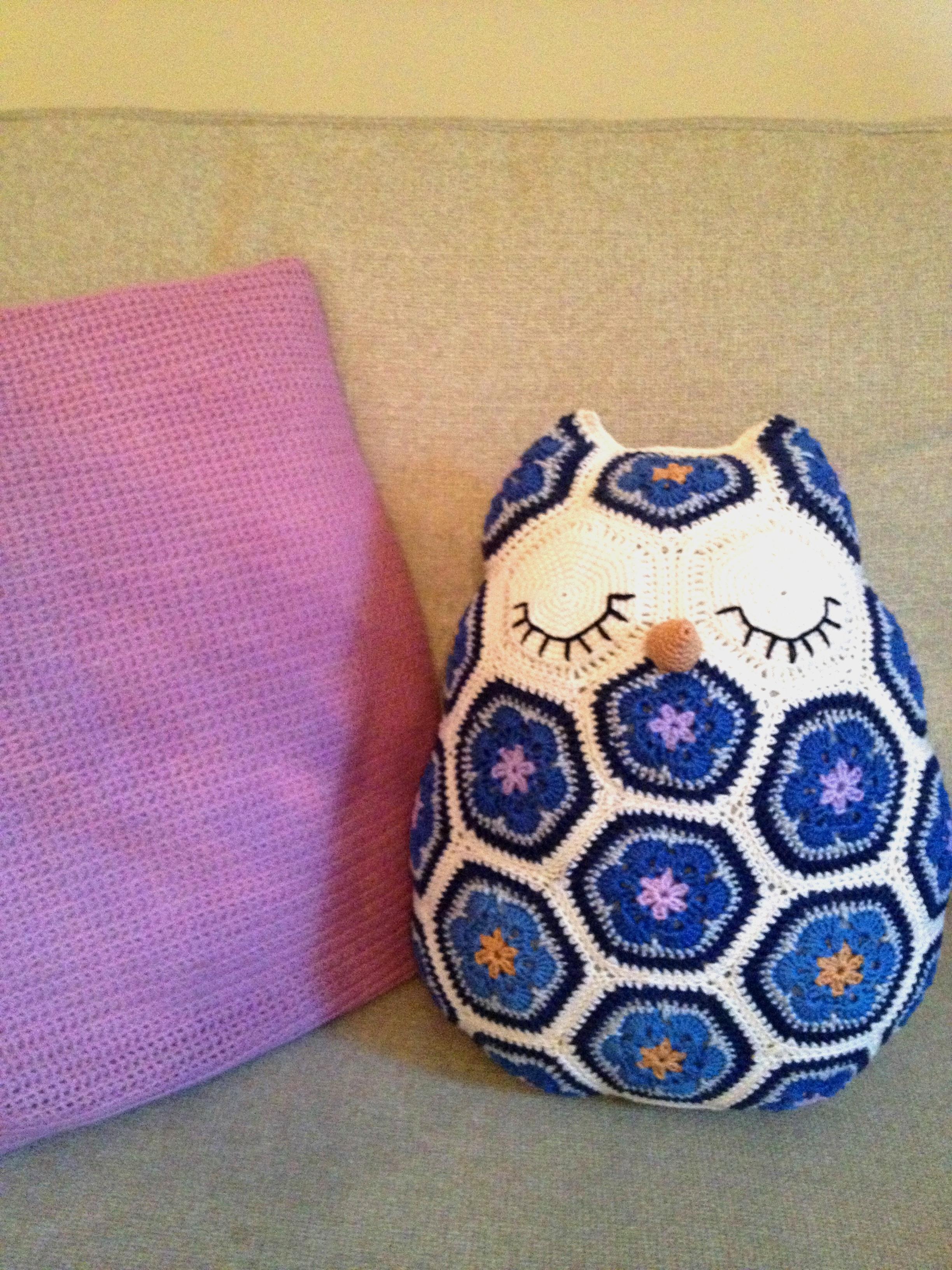 Crochet African Flower Owl Free Pattern ~ Dancox for .