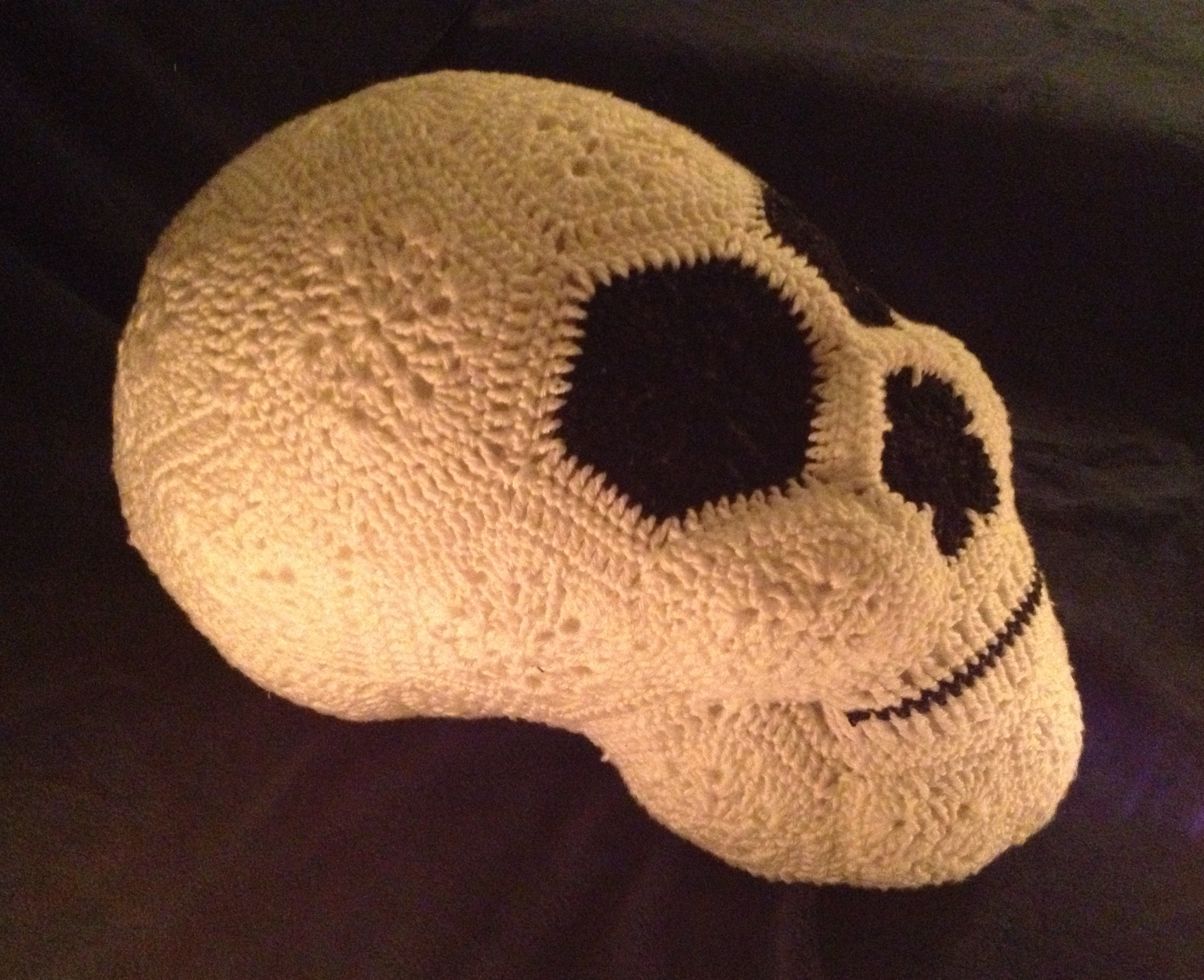 crochet african flower skull 1 JOs Crocheteria