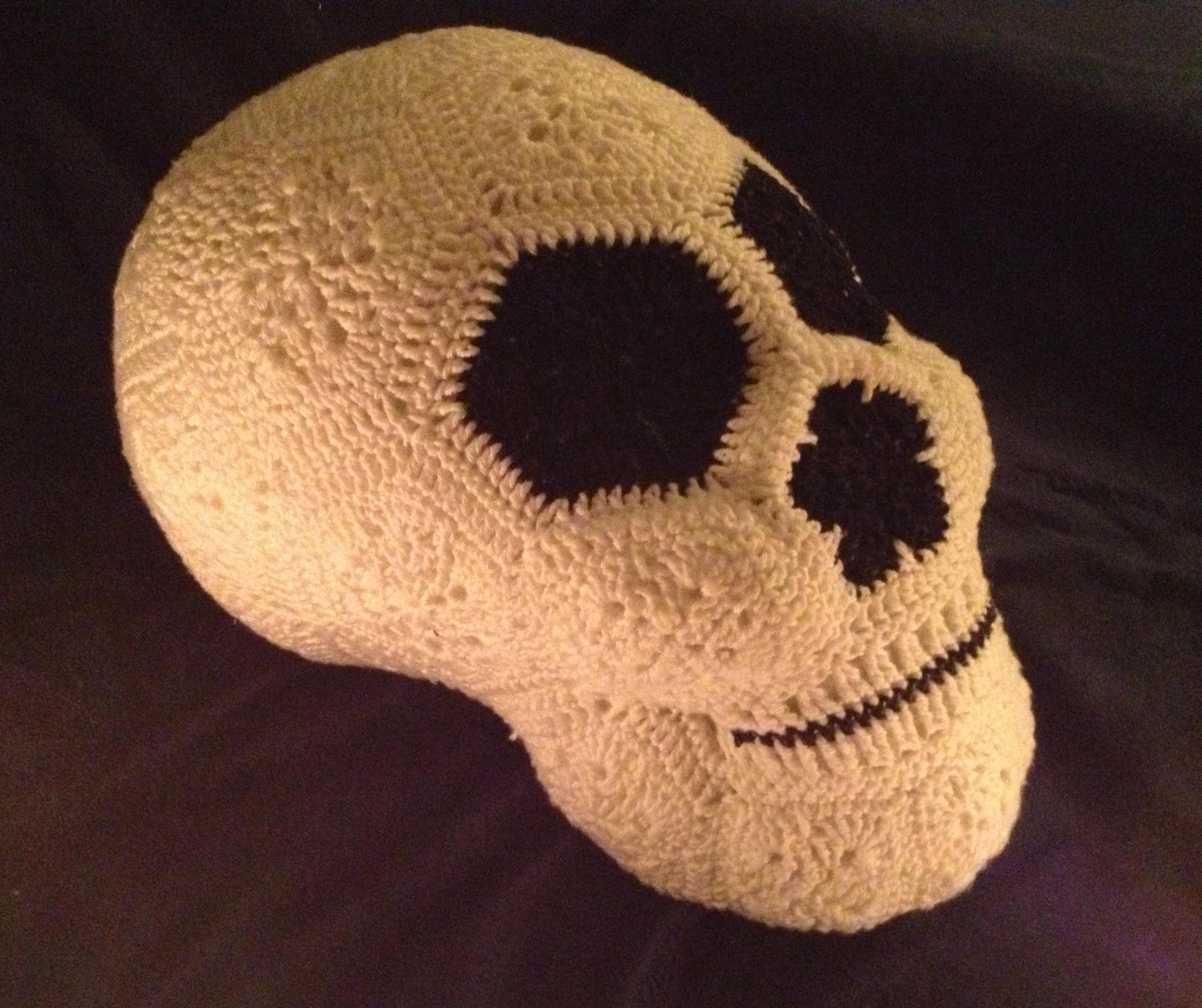 Crochet African Flower Skull 4 Jos Crocheteria